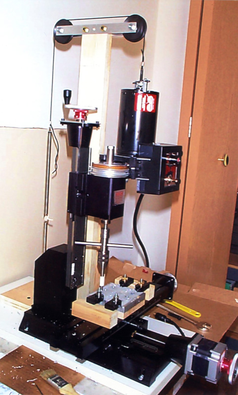 A spring counter-balance for the mill Z-axis by Stan Figora
